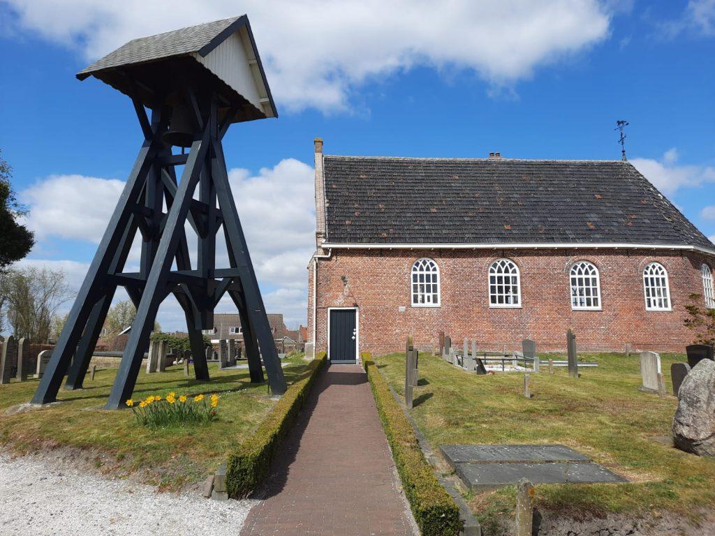 Voorbeeld van een klokkenstoel in Friesland